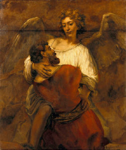 Rembrandt Jacob Wrestling with an Angel